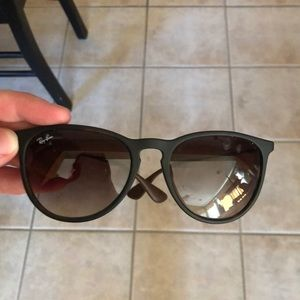 brown ray bans Erika sunglasses- great condition!